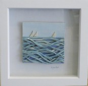 Peaceful summer - Framed ceramic scene