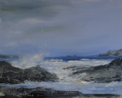 Blustery day, Constantine Bay - Acrylic