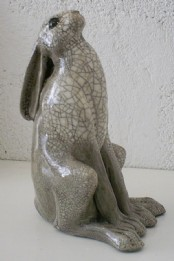 Raku Moongazing Hare