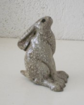 Raku Moongazing Hare (Small)
